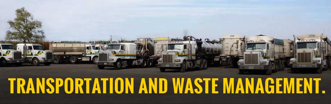 we offer waste management and haulage services